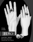 [ zerO ] Mesh Clan Signet Ring (Male+Female) - Ravnos (BOX)
