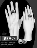 [ zerO ] Mesh Clan Signet Ring (Male+Female) - Toreador (BOX)