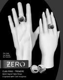 [ zerO ] Mesh Clan Signet Ring (Male+Female) - Tremere (BOX)