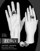 [ zerO ] Mesh Clan Signet Ring (Male+Female) - Malkavian (BOX)