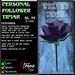 Personal Follower Rose Tipjar - Purple Velvet - Copyable Floating TipJar