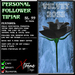 Personal Follower Rose Tipjar - Black Velvet - Copyable Floating TipJar