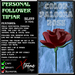 Personal Follower Rose Tipjar - Color Palooza - Copyable Floating TipJar