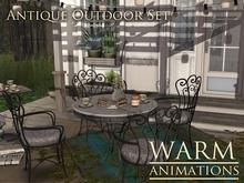 Warm - Antique Outdoor Set