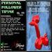 Personal Follower Tipjar - Balloon Animal - Copyable Floating TipJar