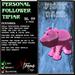 Personal Follower Tipjar - PiggyBank - Piggy Bank - Copyable Floating TipJar