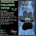Personal Follower Tipjar - PawPrint - Paw Print - Copyable Floating TipJar