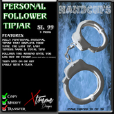 Personal Follower Tipjar - Handcufs - Hand Cuffs - Copyable Floating TipJar