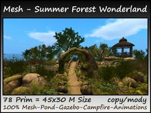 Mesh Summer Forest Wonderland 78 Prim=45x30m Size copy-mody