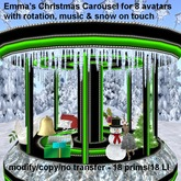 DEMO: Emma's Christmas Carousel, with Christmas music, snow flakes & rotates on touch
