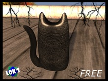 Lok's FREE Black Cat Leather Deco for Halloween