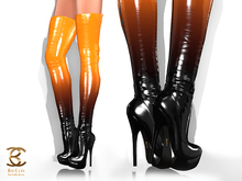 BAX Regency Boots Pumpkin-Black Patent Leather