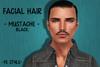 Mustache ad black