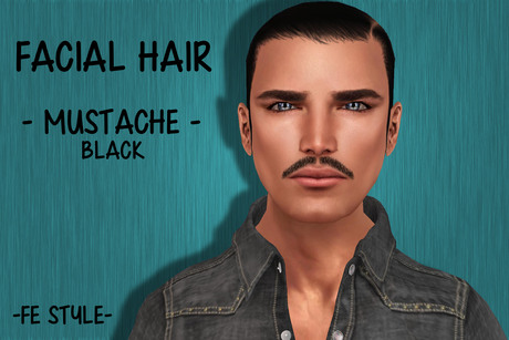 ::Fe Style:: 6ED - Mustache Black