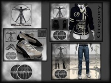 MESHCENTER - Blu Gregory full outfit sport man