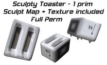1 prim sculpty toaster + Full Perm sculpt map and texture