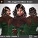 A&A Viggo Hair Mixed Brown (FUNCTIONAL DEMO). Medium length curly messy hairstyle