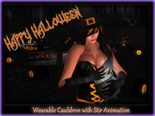 Wearable Cauldron with Animation ~ Happy Halloween
