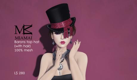 """MIAMAI_Barons top hat """"DEMO"""" unisex"""