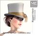 """MIAMAI_Barons top hat """"carbasus alba"""" unisex"""