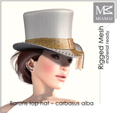 "MIAMAI_Barons top hat ""carbasus alba"" unisex"