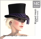 "MIAMAI_Barons top hat ""calculus"" unisex"