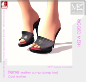 Miamai_Irene pumps (peep toe) coal leather