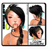 M&M-Glow soldier hair  black hair  by YHS