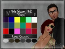 """.:TV:. Vale Glasses  """"Nerdy"""" [MESH] frame and lens HUD~ From glasses to sunglasses in 18 frame colors and 6 lens shades"""