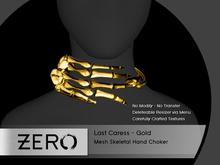[ zerO ] Last Caress - Mesh Skeletal Choker - Gold (BOX)
