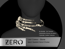 [ zerO ] Last Caress - Mesh Skeletal Choker - Bone (BOX)