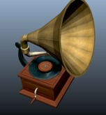 gramophone with Music - Full Perm