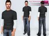 Full Perm Rigged Mesh Men's Long Sleeve T-shirt 2 in 1