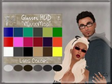 ::BnB:: MaxxMod Glasses [MESH] frame and lens HUD~ From glasses to sunglasses in 18 frame colors and 6 lens shades