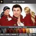 A&A Elord Hair 11 Colors Variety Pack. Classical mens hair style