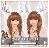 ::LEO-NT:: OH DEER ANTLERS [winter] -ivory-