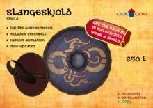Slangeskjold Shield - Medieval - Viking - Rustic - Torvaldsland