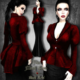 ~Black Arts~Flora Mesh Gown Red Brocade