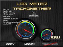 Lag meter tachometer