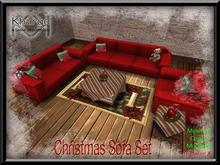 CHRISTMAS SOFA SET ~ MENU DRIVEN ANIMATION CHANGE CUDDLE AND SINGLE ANIMATIONS INCLUDED - MESH