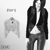[ tien ] Fur Leather Short Jacket Demo