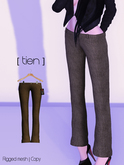 [ tien] Tweed Pants in Brown