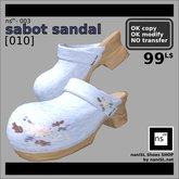 ns(3)-003 sabot sandal [010]