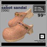 ns(3)-003 sabot sandal [006]