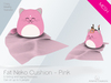 [A] Fat Neko Cushion Pink
