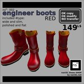 ns(3)-002 engineer boots [red]