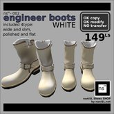 ns(3)-002 engineer boots [white]