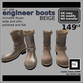 ns(3)-002 engineer boots [beige]