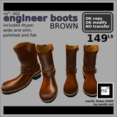 ns(3)-002 engineer boots [brown]