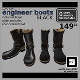 ns(3)-002 engineer boots [black]